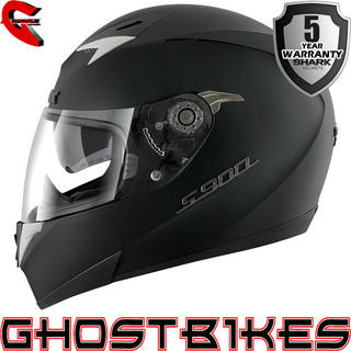 Shark S900-C Dual Black Motorcycle Helmet