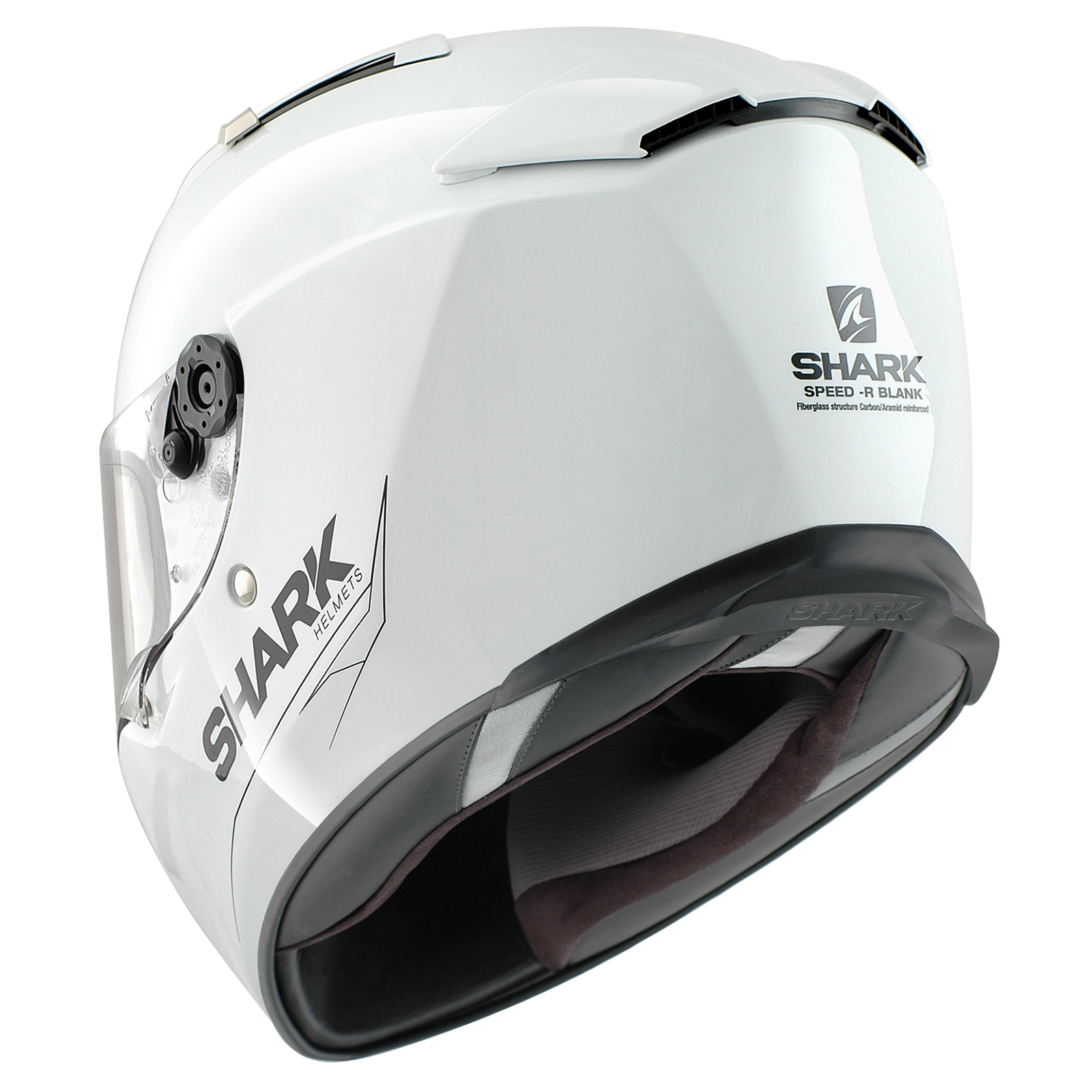 shark speed r blank motorbike race touring bike motorcycle helmet ghostbikes ebay. Black Bedroom Furniture Sets. Home Design Ideas