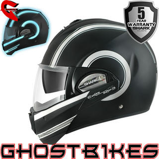 View Item Shark Evoline Series 3 Moovit Lumi Motorcycle Helmet