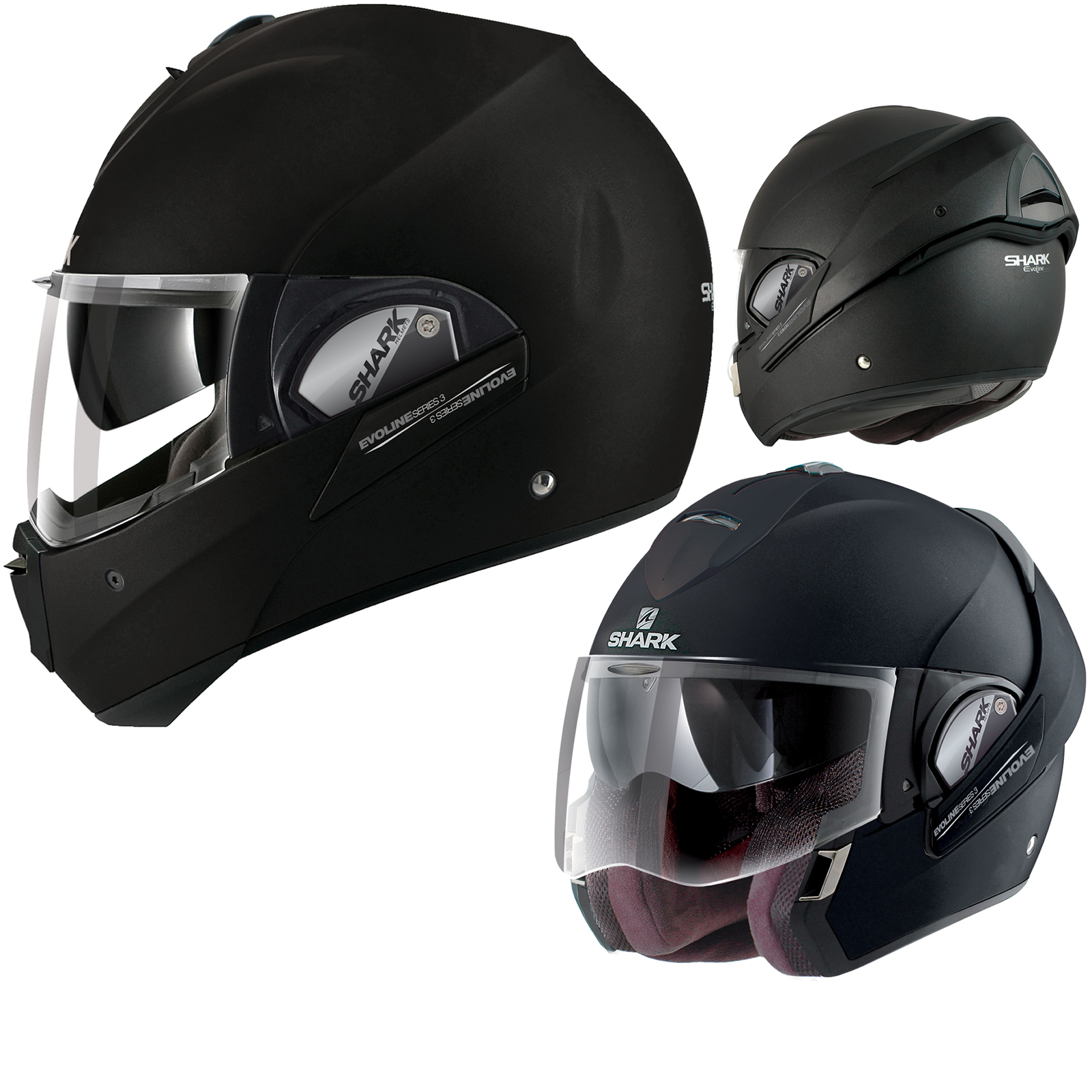 shark evoline series 3 st fusion mat flip front full open face motorcycle helmet. Black Bedroom Furniture Sets. Home Design Ideas