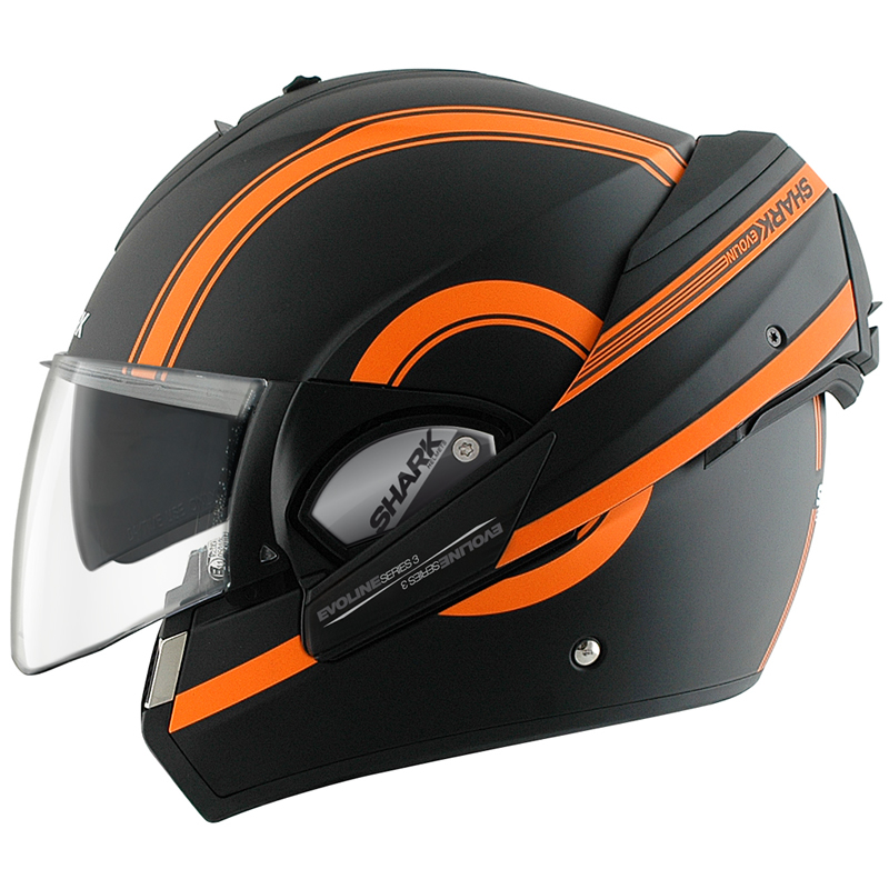 shark evoline series 3 st moovit mat flip front full open face motorcycle helmet ebay. Black Bedroom Furniture Sets. Home Design Ideas