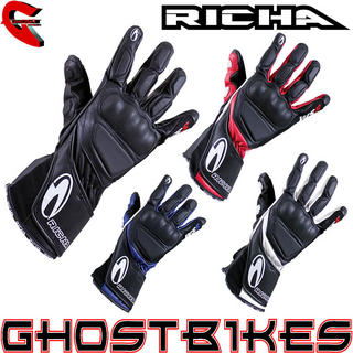 Richa WSS Leather Motorcycle Gloves
