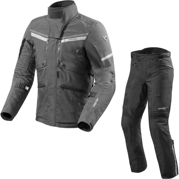 Rev It Poseidon 2 GTX Motorcycle Jacket & Trousers Black Kit