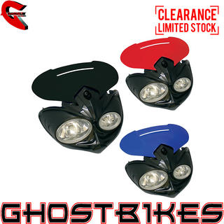 View Item Bike It Falcon Universal Motorcycle Headlight