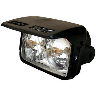 View Item Bike It Universal Motorcycle Headlight with Flip Cover