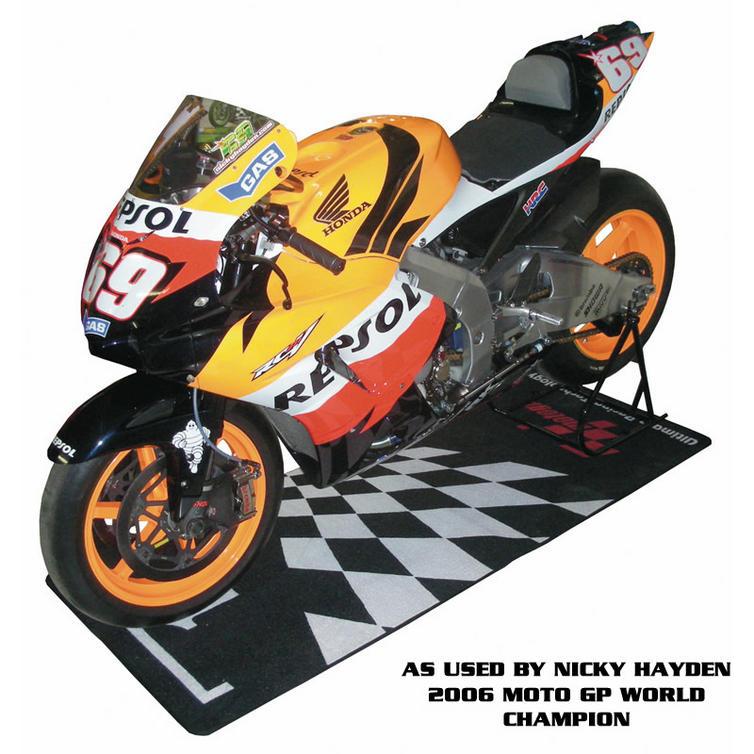 moto gp motorcycle garage mat clearance. Black Bedroom Furniture Sets. Home Design Ideas
