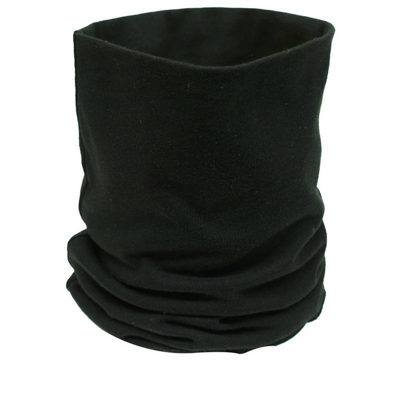 Image of Black Cotton Neck Tube