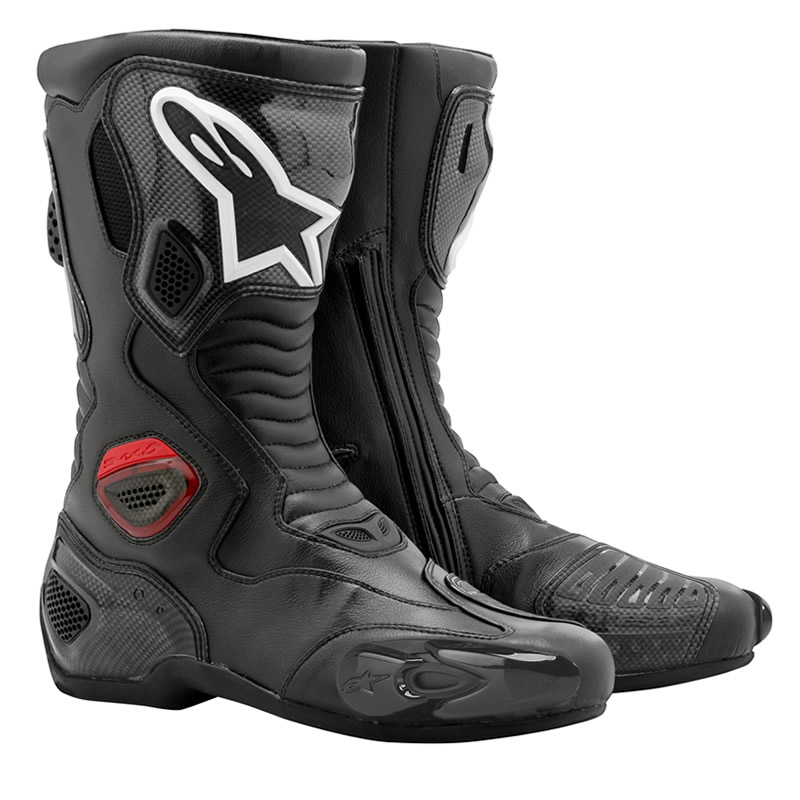 alpinestars s mx 5 rs carbon road racing motorbike motorcycle vented boots. Black Bedroom Furniture Sets. Home Design Ideas