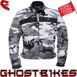 Black Argon Camo Motorcycle Jacket