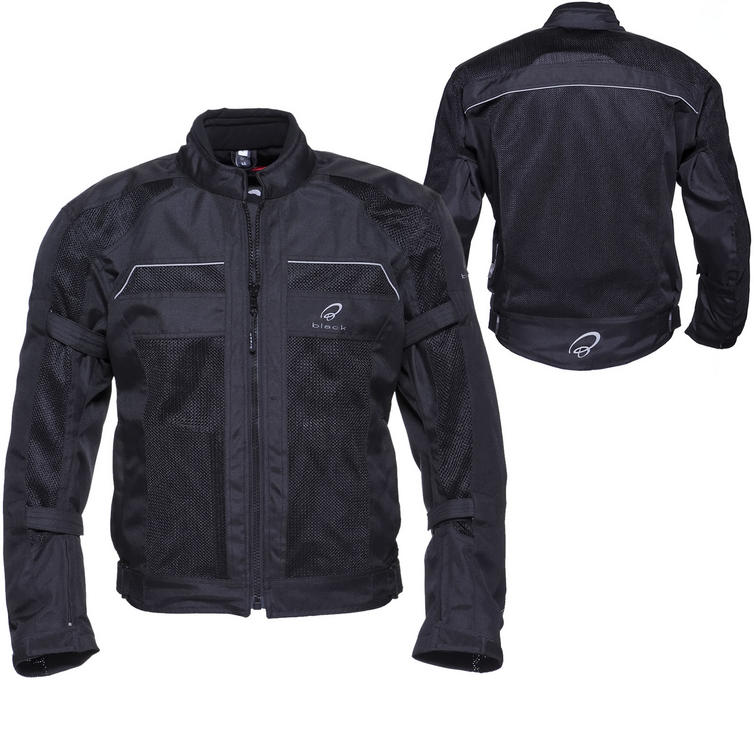 Black Piston Mesh Summer Motorcycle Jacket