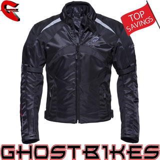 Black Spitfire Motorcycle Jacket
