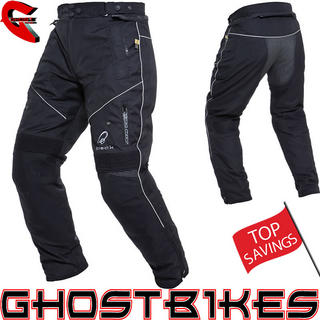 Black Toxic Motorcycle Trousers