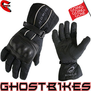 Black Barrier Waterproof Motorcycle Gloves
