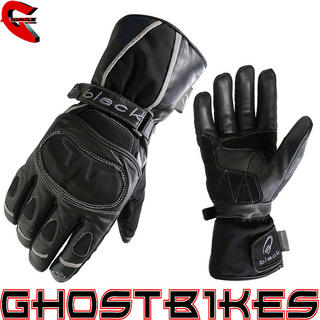 Black Hydrogen Waterproof Motorcycle Gloves