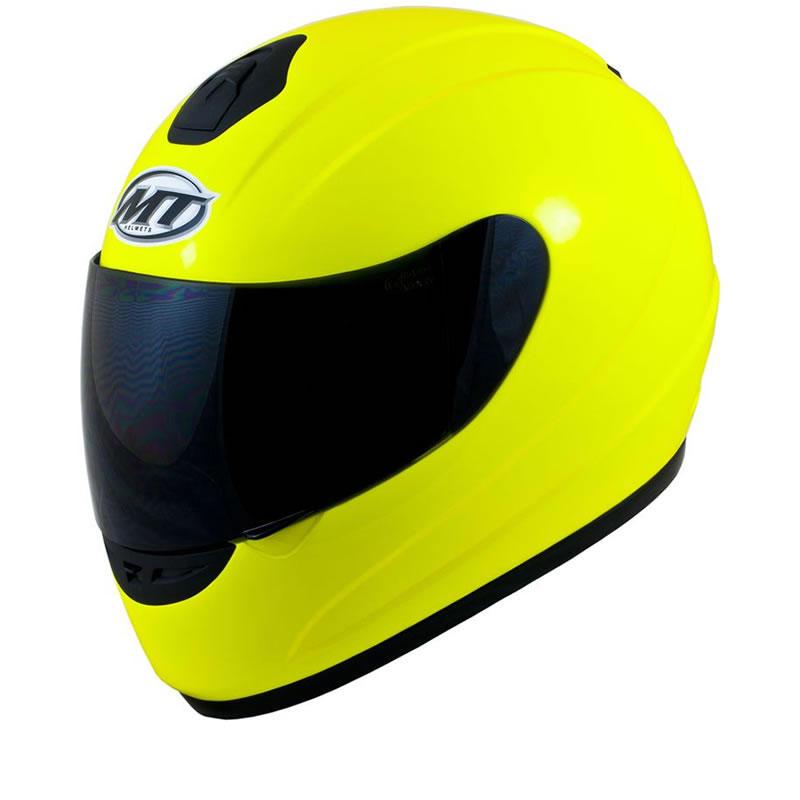MT Thunder Hi-Viz Motorcycle Helmet