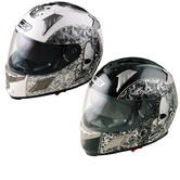 View Item Box BZ-1 Skull Motorcycle Helmet