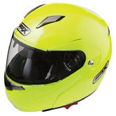 View Item Box SZ-1 Hi-Viz Flip Front Motorcycle Helmet