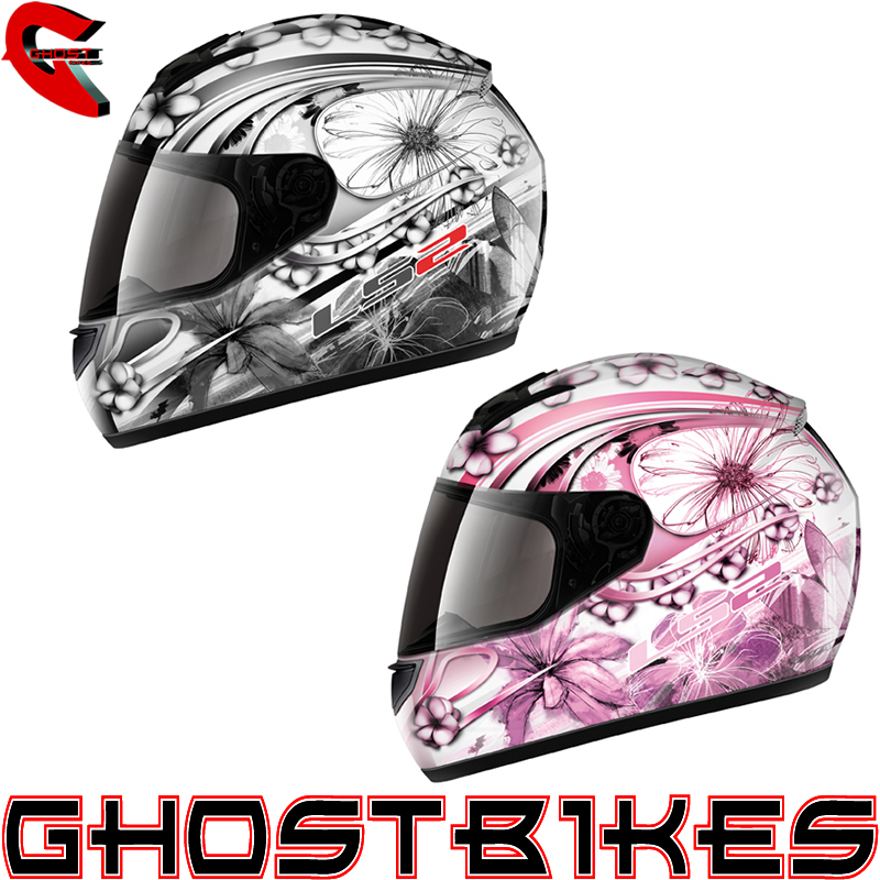 LS2 FF351 STARDUST 3 LADIES ACU GOLD RACING MOTORCYCLE CRASH HELMET GHOSTBIKES Enlarged Preview