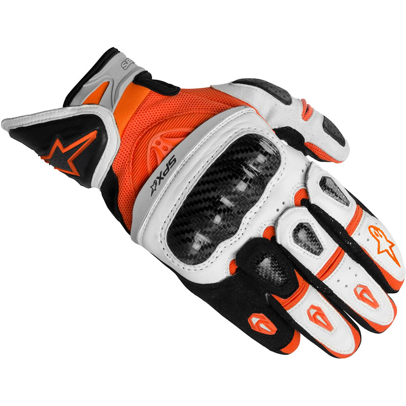 Sport Motorcycle Gloves: ALPINESTARS 2012 SP-X SHORT LEATHER SUPERMOTO SPORTS