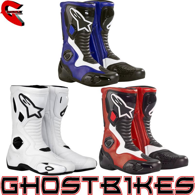 alpinestars s mx 5 road racing motorcycle motorbike sports boots ghostbikes ebay. Black Bedroom Furniture Sets. Home Design Ideas