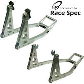 View Item Black Aluminium Race Front & Rear Paddock Stand Set