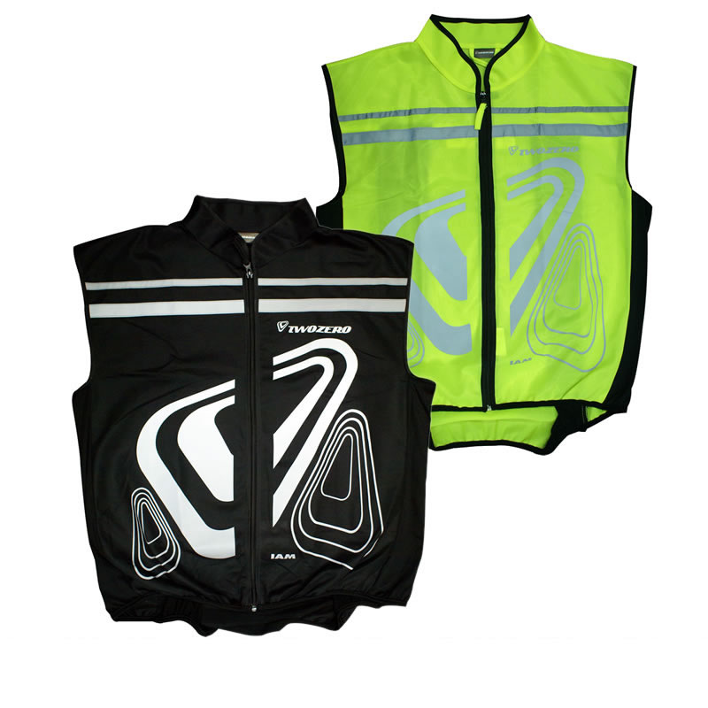 TWOZERO VERSO GILLET MOTORCYCLE HI VIS FLUORESCENT FLUO OVER JACKET VEST GILET Enlarged Preview