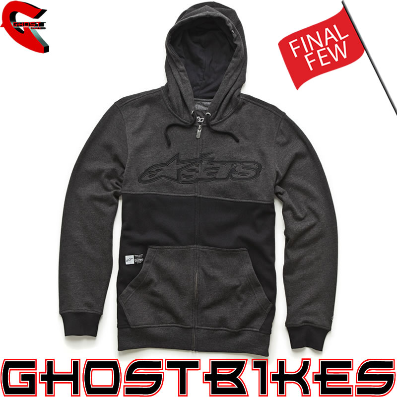 ALPINESTARS 2013 GENUINE SLAG HOODED FLEECE COTTON ZIP FRONT MOTOCROSS HOODIE Enlarged Preview