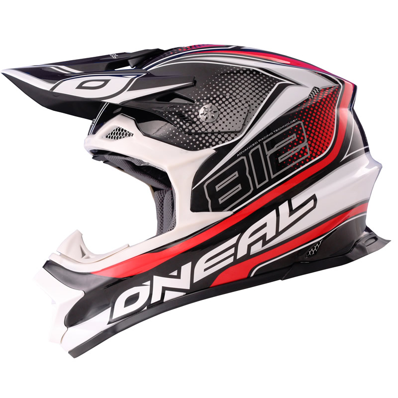 oneal 812 graphic mx lightweight fiberglass 8 series