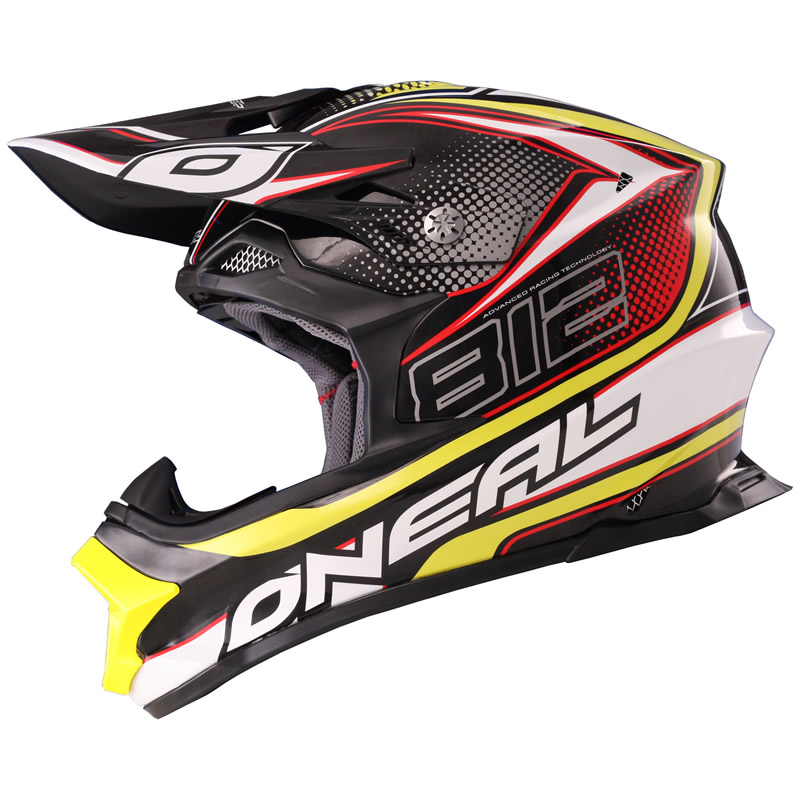 motocross helm oneal 812 plain mx fiberglas serie 8 enduro. Black Bedroom Furniture Sets. Home Design Ideas