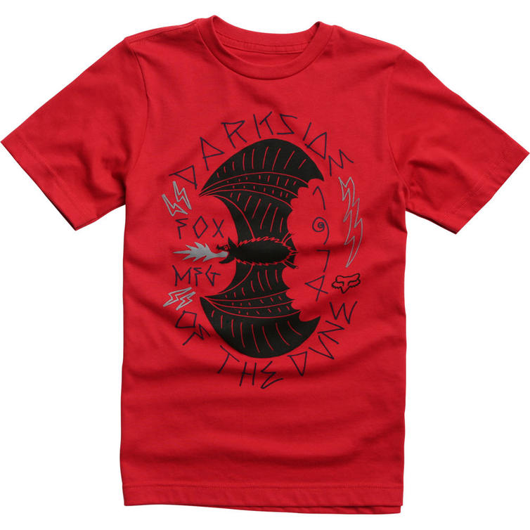 21009-208-YXL - Fox Racing Youth Curio T-Shirt TXL Red