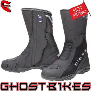 Black Oxygen Elite Motorcycle Boots