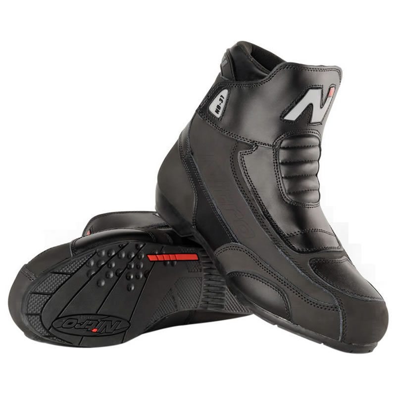 NITRO NB-31 SHORT LEATHER CRUISER STREET MOTORBIKE MOTORCYCLE BOOTS GHOSTBIKES Enlarged Preview