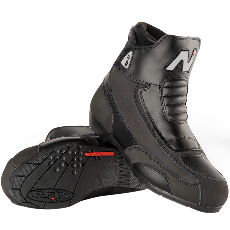 NITRO NB-31 SHORT LEATHER CRUISER STREET MOTORBIKE MOTORCYCLE BOOTS - GHOSTBIKES Enlarged Preview