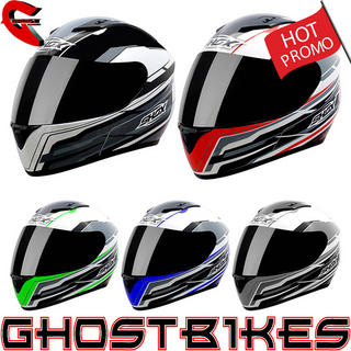 View Item Shox Axxis Atom Motorcycle Helmet