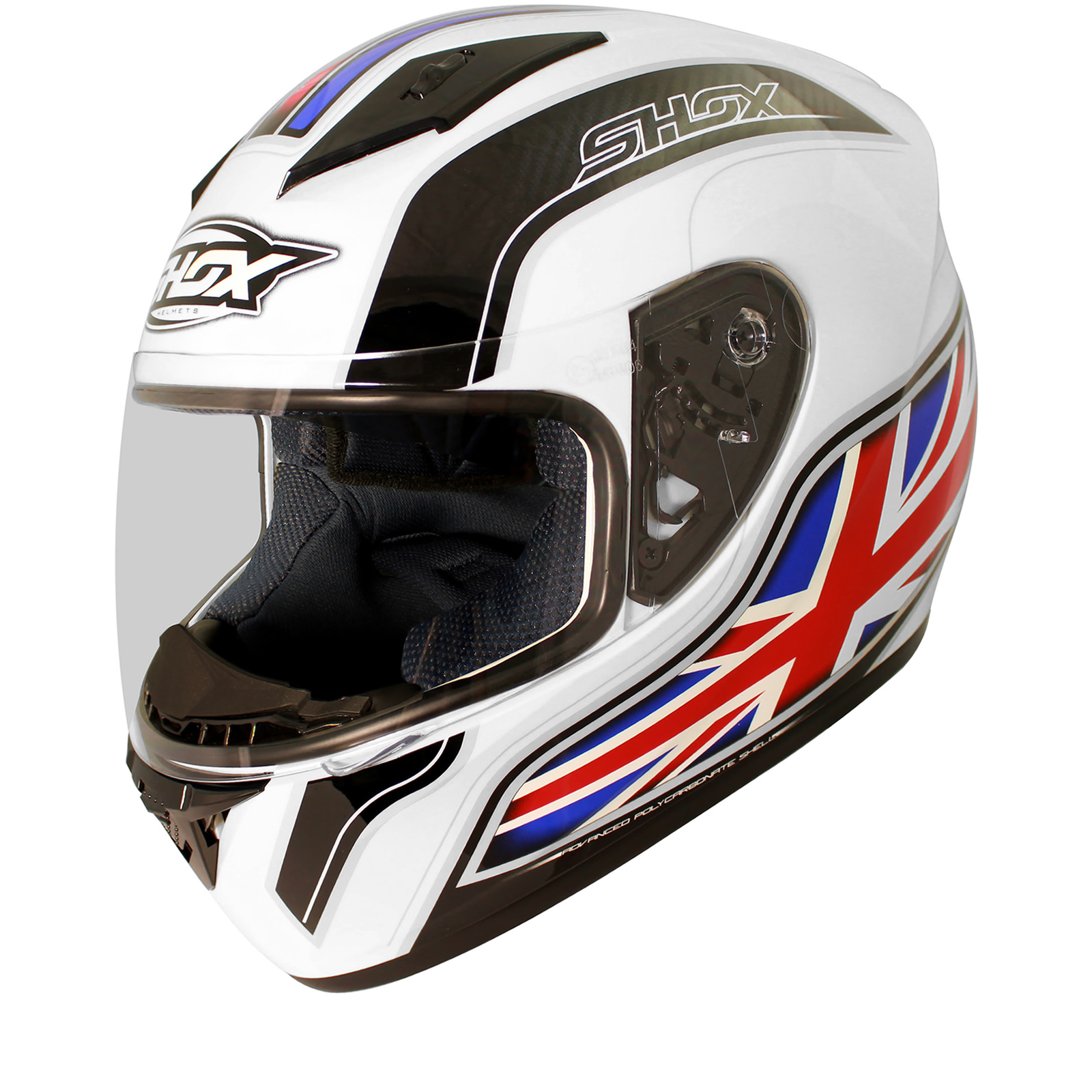 Shox axxis identity moto scooter mobylette int gral course - Casque moto course ...