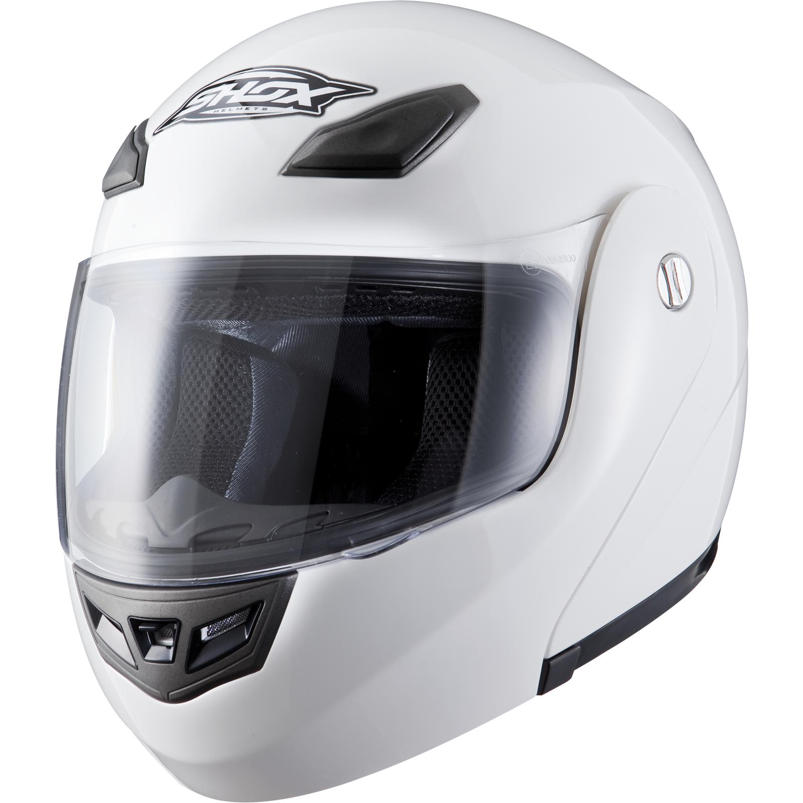 Shox Bullet Flip Up Front Modular Motorcycle Motorbike Bike Scooter Crash Helmet