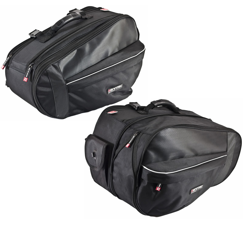 RENNTEC TOUR MOTORCYCLE TOURING BIKE LUGGAGE PANNIERS SADDLE-BAGS 90 LITRES Enlarged Preview
