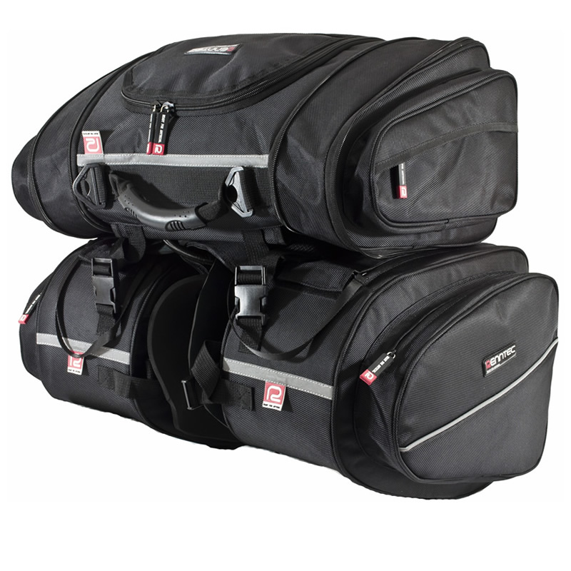 RENNTEC MOTORCYCLE MOTORBIKE TOURING LUGGAGE PANNIERS TAIL PACK SET GHOSTBIKES Enlarged Preview
