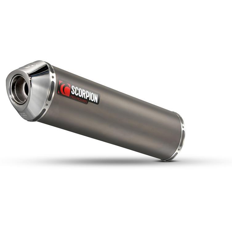 Scorpion Factory Satin Titanium Round Exhaust Aprilia RSV1000 Factory/Millie R/Touno 03-08
