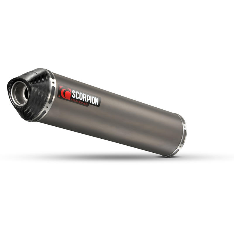 Scorpion Factory Satin Titanium Round Exhaust Carbon Outlet Suzuki SV 650 04-11