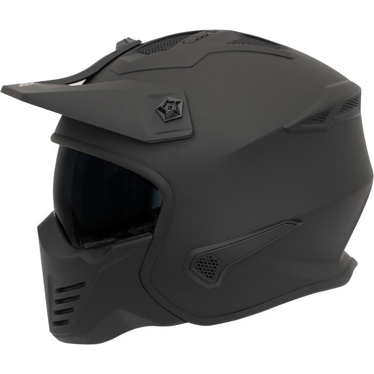 Motorcycles Spada Storm Plain Open Face Motorcycle Helmet & Visor
