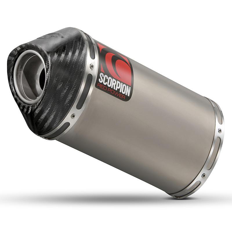 Scorpion Carbine Satin Titanium Extreme Exhaust Carbon Outlet Yamaha YZF 600 R6 03-05