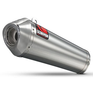 Scorpion Power Cone Satin Titanium Oval Exhaust Yamaha YZF R 125 Full System 08>Current