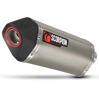Scorpion Serket Satin Titanium Oval Exhaust Honda VFR 1200 No Panniers 10>Current