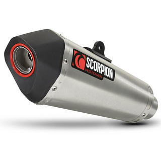 Scorpion Serket Taper Stainless Oval Exhaust Honda CBR 125 R System 11>Current