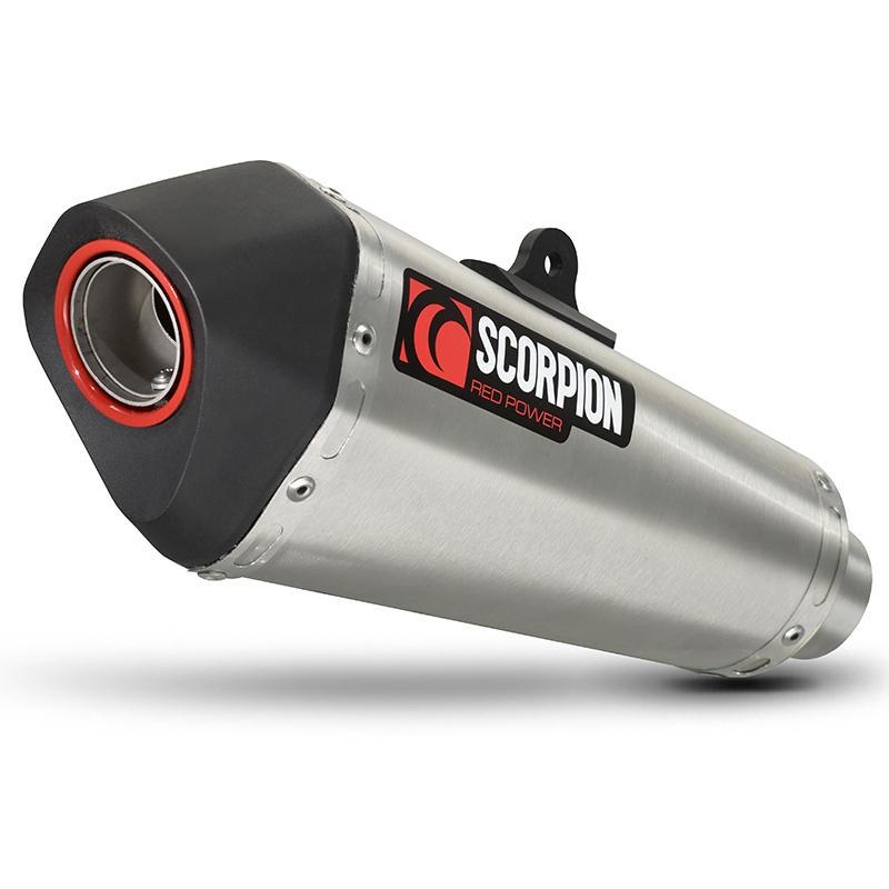Scorpion Serket Taper Stainless Oval Exhaust Suzuki Gladius 650 09>Current
