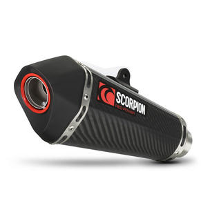 Scorpion Serket Taper Carbon Oval Exhaust Suzuki GSR 750 11>Current