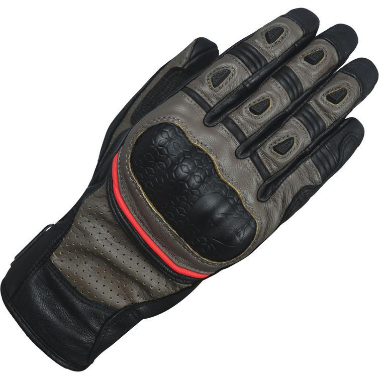 GM191103M - Oxford Hawker Motorcycle Gloves M Brown Black
