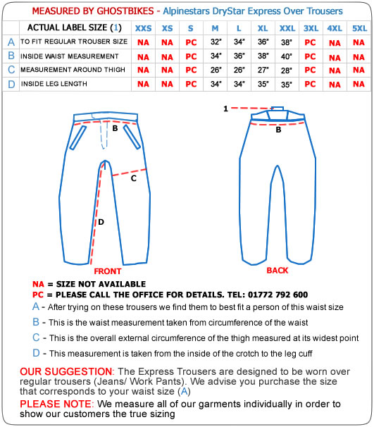 Alpinestars Express Drystar Motorcycle Trousers