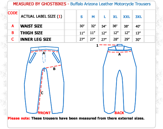 Buffalo Arizona Leather Motorcycle Trousers